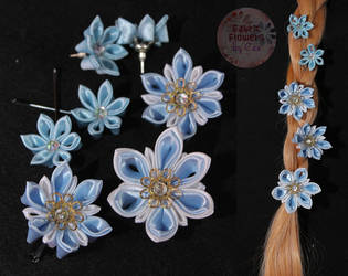 Snowflake Kanzashi by yourstrulycee