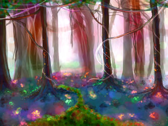Rainbow Forest by SkinsT