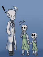 Floofy Skele Scientist by CyberFell