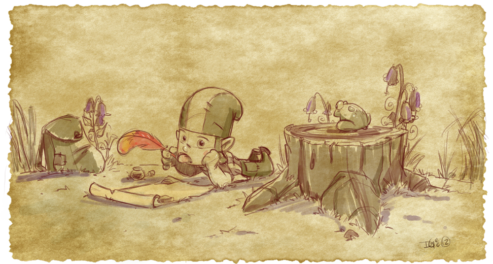 Thomas the Leap Year sketching Elf 2 by D-Gee