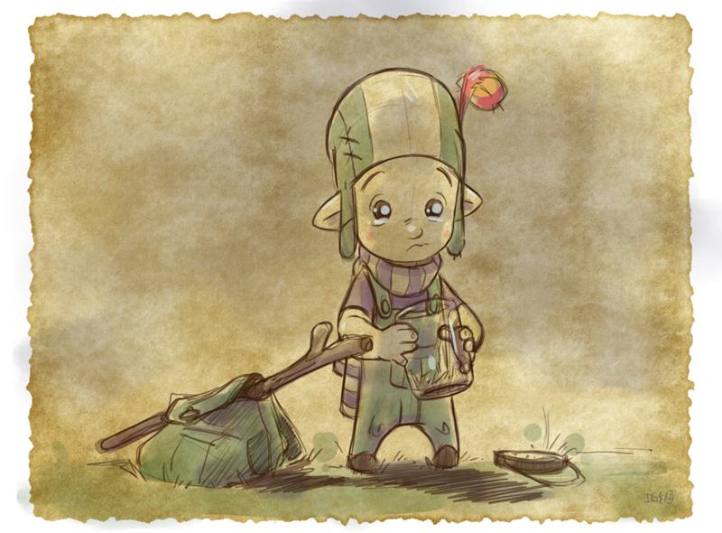 Thomas the Leap Year sketching Elf 19 by D-Gee
