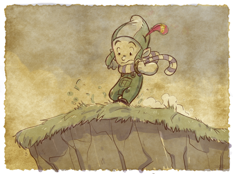 Thomas the Leap Year sketching Elf 24 by D-Gee
