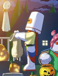 Bravoman Happy-Halloween by D-Gee