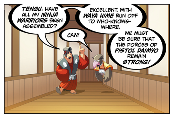 Bravoman Daimyos-Dearth panel 1 by D-Gee
