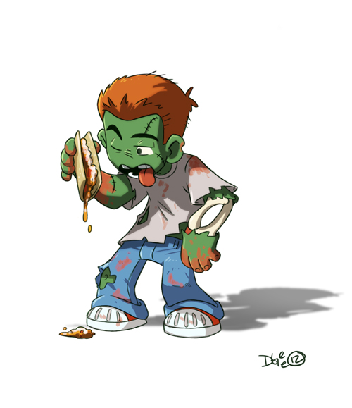 Zombie n Taco Commish by D-Gee