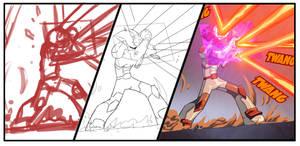 Bravoman Comic Process