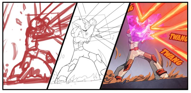 Bravoman Comic Process by D-Gee