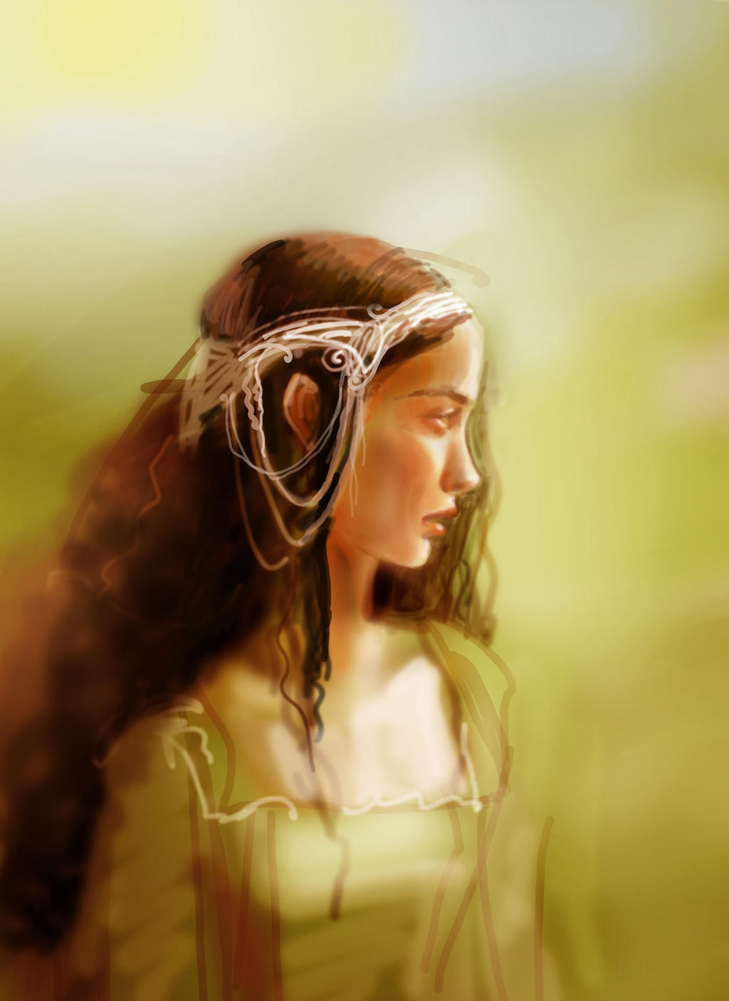 Arwen sketch by non-existent-country
