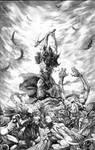 Frazetta Death Dealer homage by dynapop