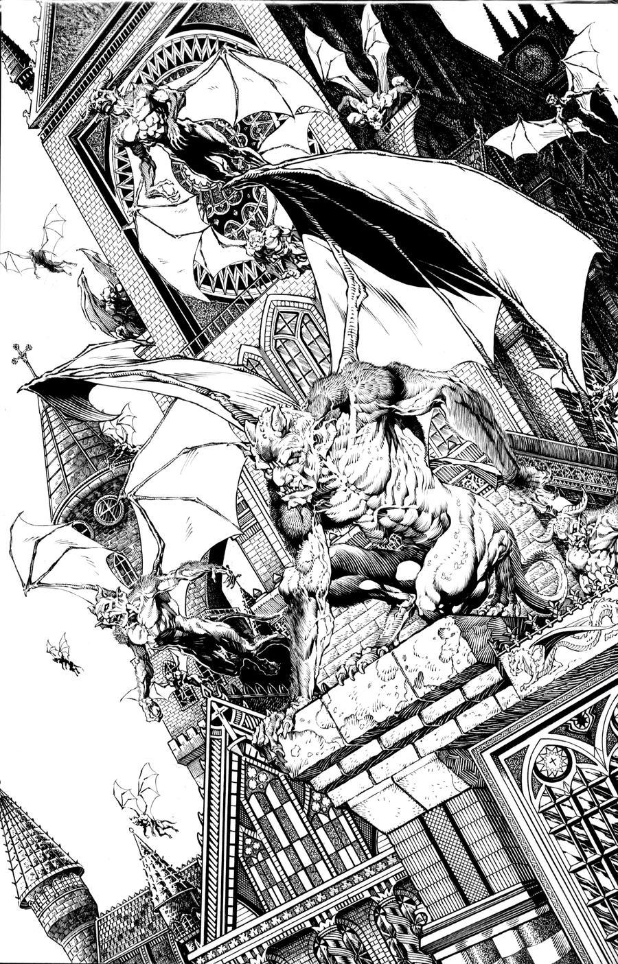 Night of the Gargoyles by dynapop