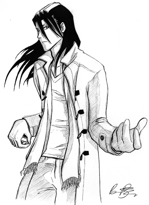 Air Guitar Byakuya by raevene