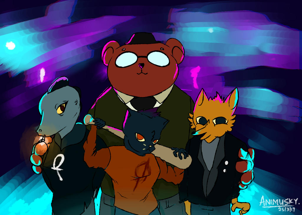 Night In The Woods gang by Animusky