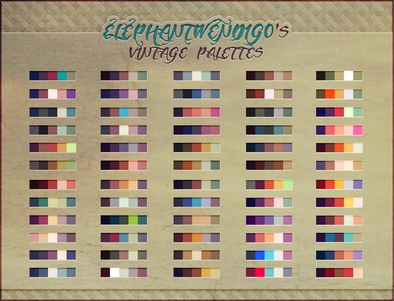 ElephantWendigo's Vintage Palettes - PS Swatches by SirWendigo