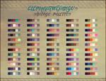 ElephantWendigo's Vintage Palettes - PS Swatches