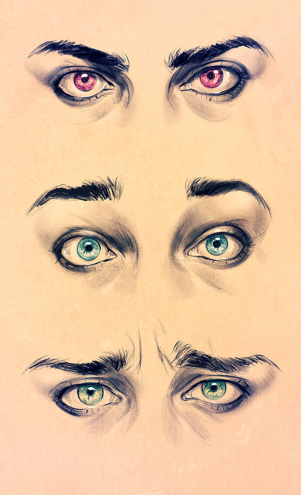 Realism Eyes - Expression study by SirWendigo