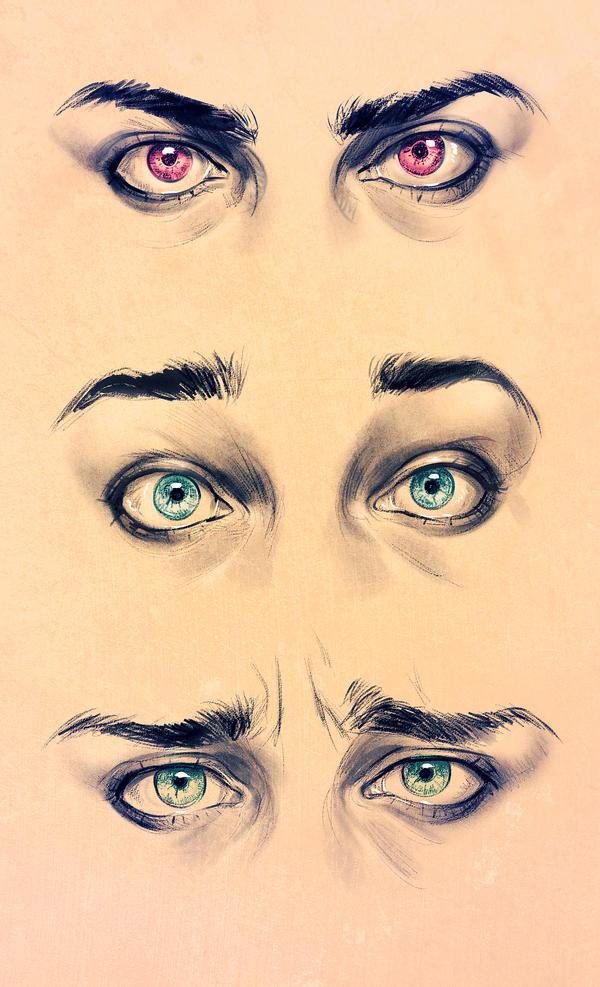 Realism Eyes - Expression study by ElephantWendigo