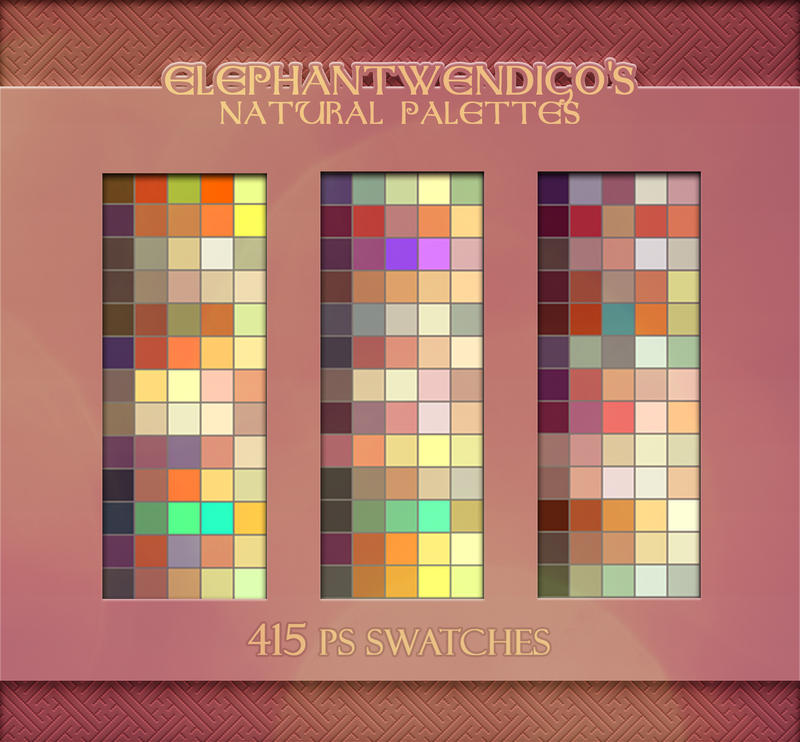 ElephantWendigo's Natural Palette - PS Swatches by SirWendigo