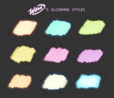 Wendigo's Glowing styles for PHOTOSHOP