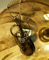 Pendant in Glass by DownToTheWire