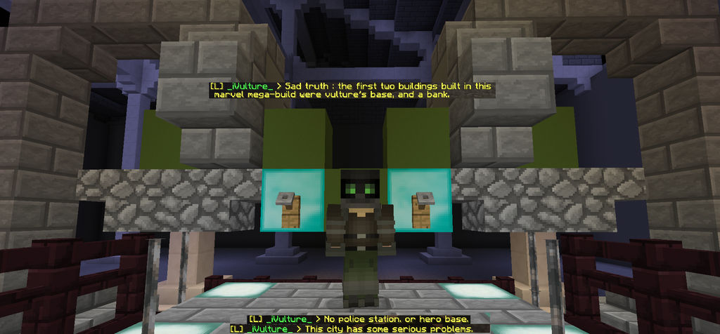 Minecraft mega-build interior preview] by VivianVulture on