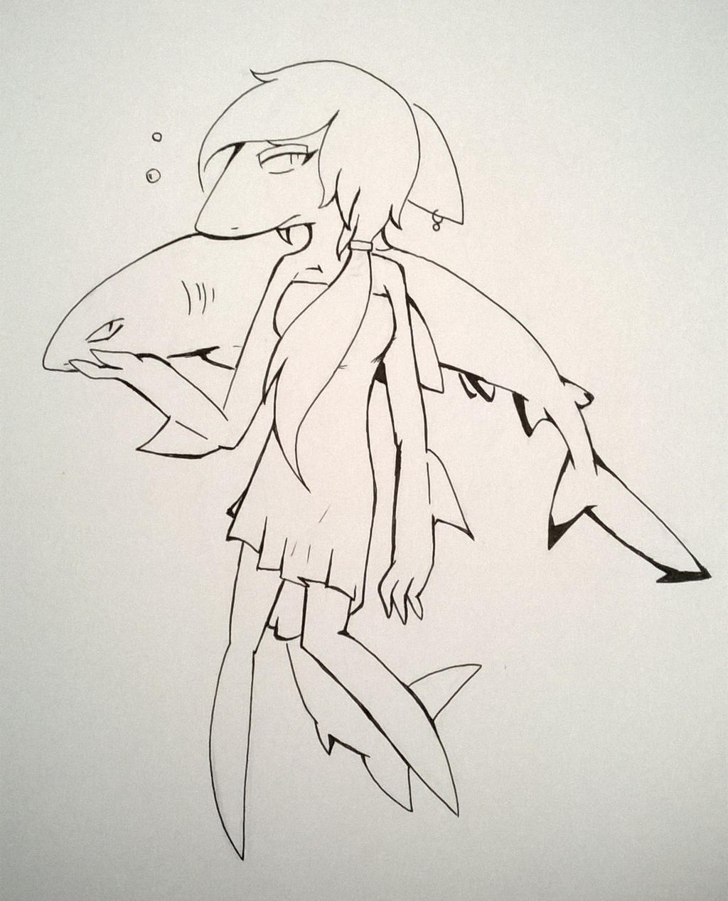 Line Drawing Shark : Sharks line art by darkgrayskies on deviantart