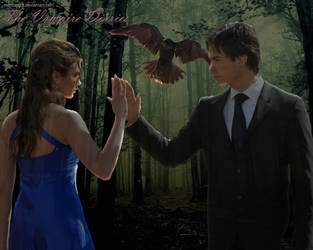Delena raven wallpaper by Mimozami