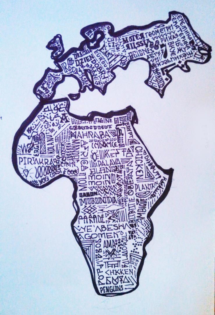 Africa and Europe by BumbleBeeLoved