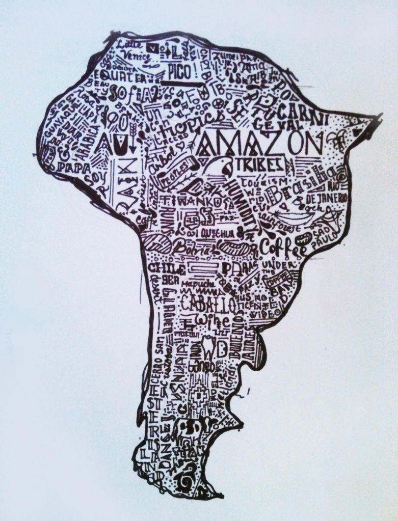 South America by BumbleBeeLoved