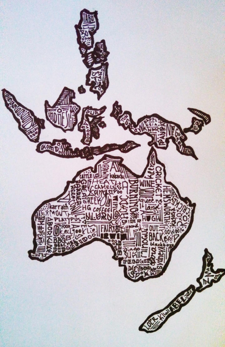 Australia and Islands by BumbleBeeLoved
