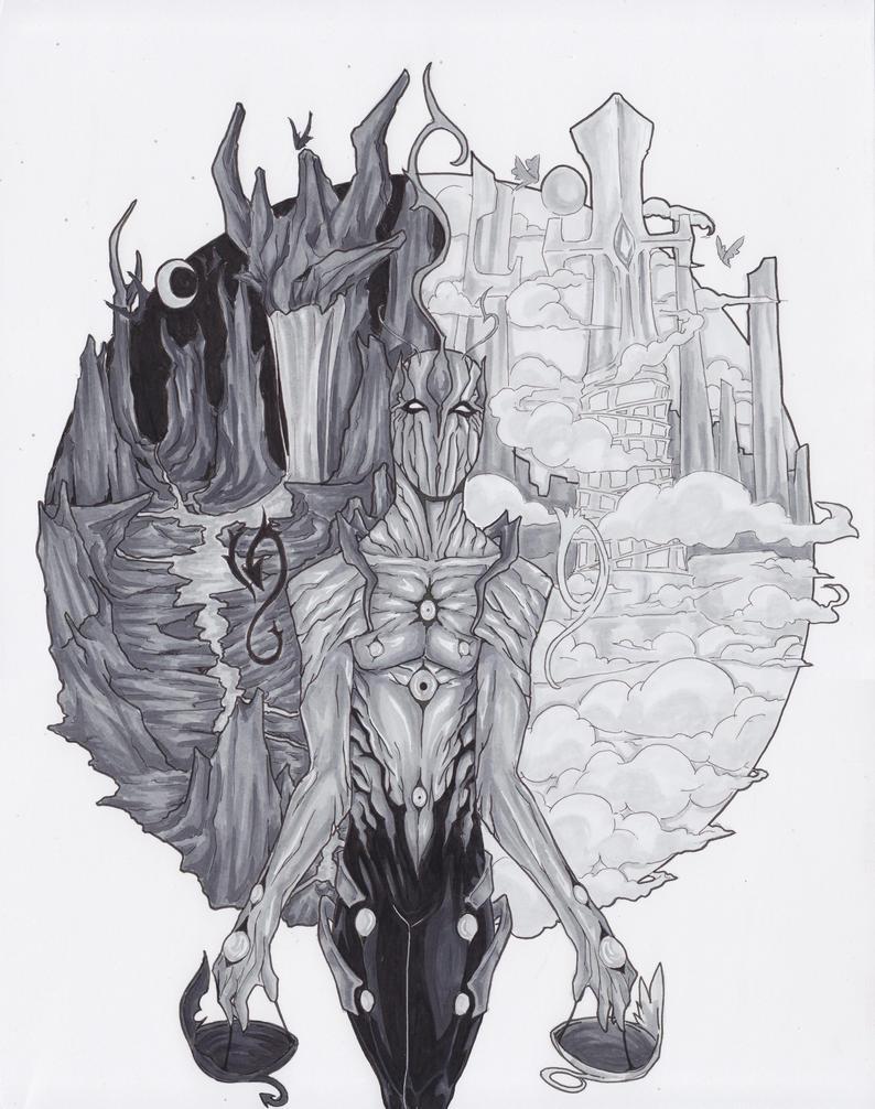 judegment - heaven vs hell by RovenneRuhtrA on deviantART