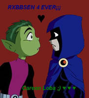 beast boy and raven (teen titans) by careenloba
