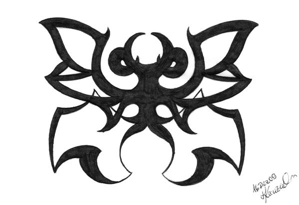 butterfly tattoo - intoBlackBookONE05 by vkonzack