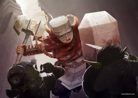 Dwarven warrior by laclillac