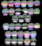 LGBTQ+ pride plant pixels (f2u)