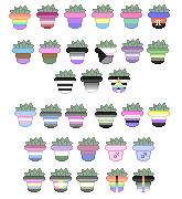 LGBTQ+ pride plant pixels (f2u) by cossmiicdolphin