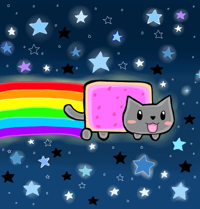 nyan cat dibujito XD by Goombarina