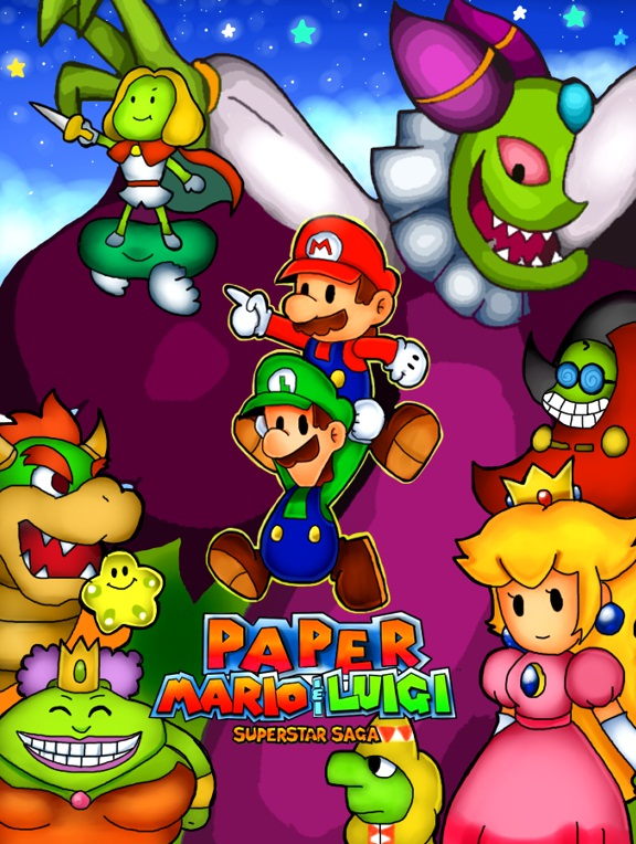 paper mario and luigi superstar saga by generalgoomba