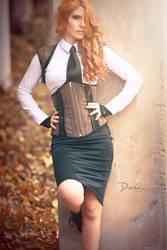 Antique style corset