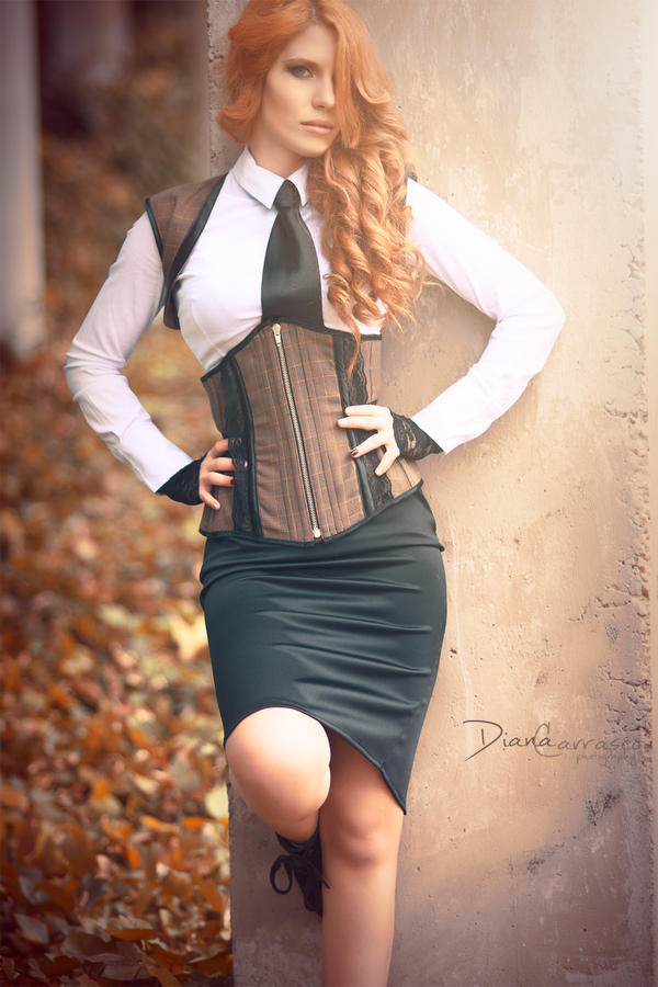 Antique style corset by Miss-SelfDestructive
