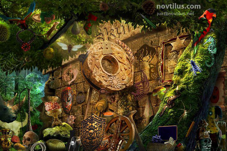 Hidden Object scene 06 by novtilus