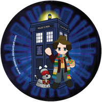 4th Doctor Button by PhantomStarStudio