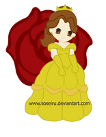 Princess Belle Chibi by PhantomStarStudio