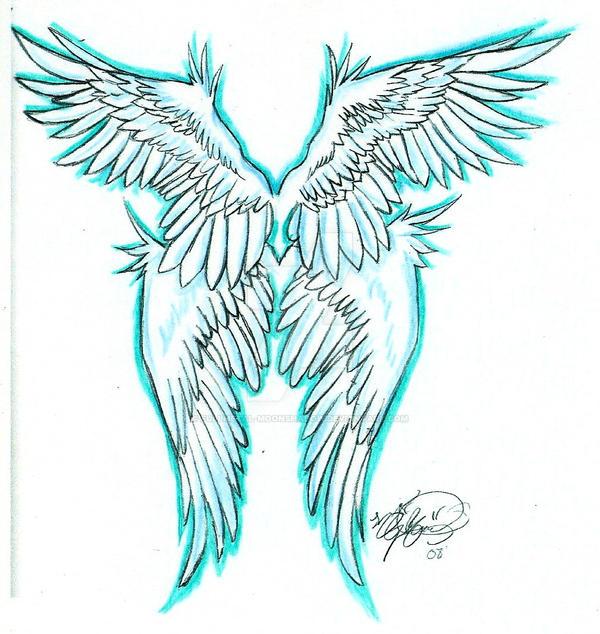 angel wings tattoo by fullmetal moonshadow on deviantart. Black Bedroom Furniture Sets. Home Design Ideas