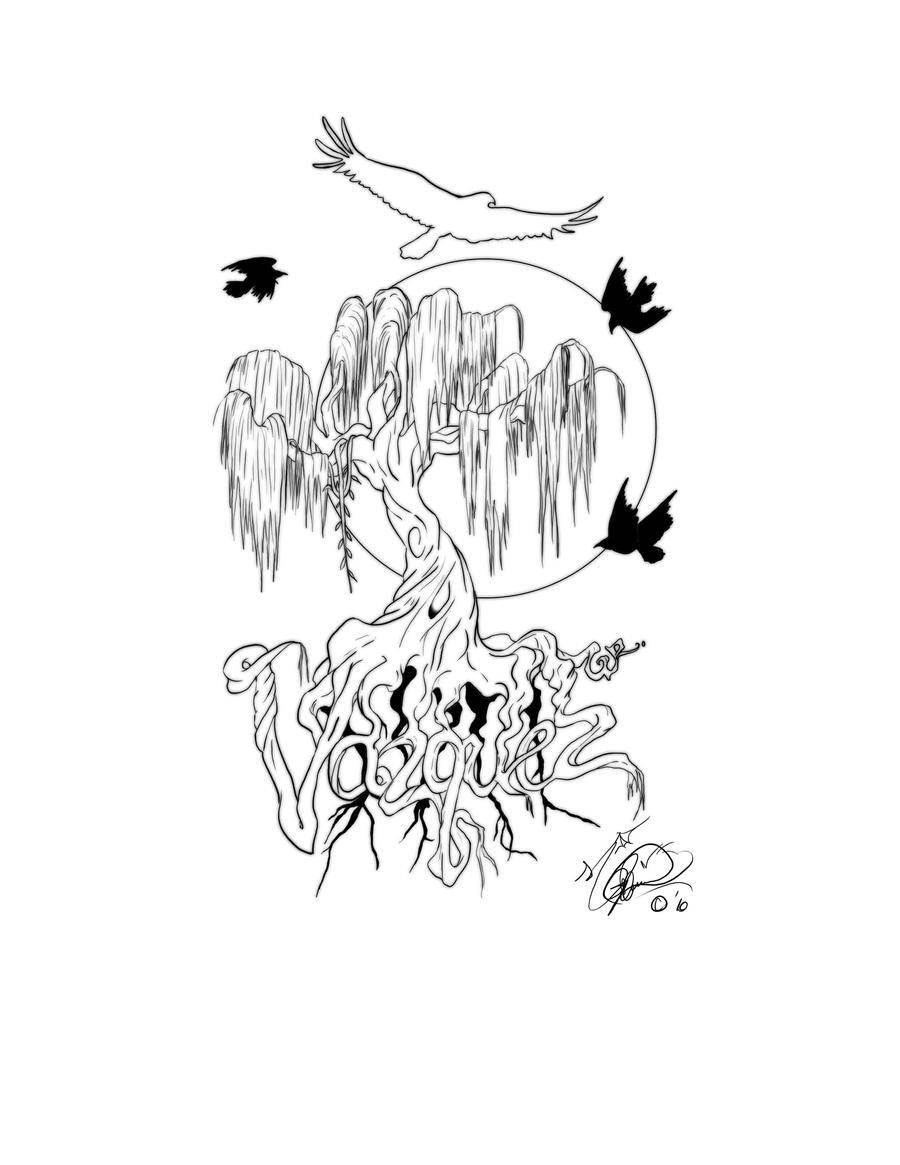willow tree tattoo design by fullmetal-moonshadow on ...  willow tree tat...