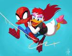 Spider-duck N Daisy Jane by chikinrise