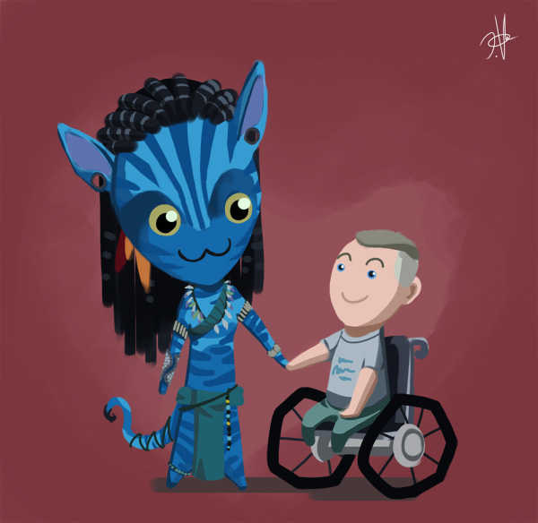 Avatar [SPOILERS, no entres si no la has visto] Neytiri_N_Jake_by_chikinrise