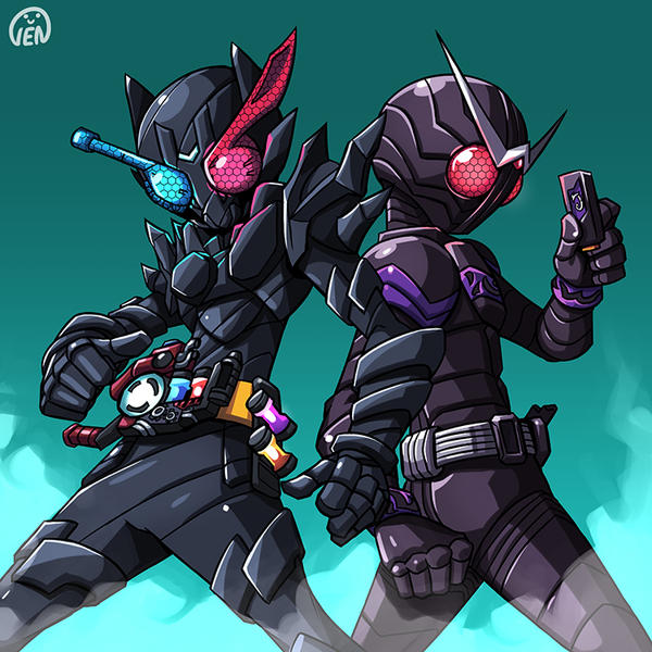 Black riders by chikinrise