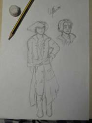 Sketch new OP OC Captain Icaro