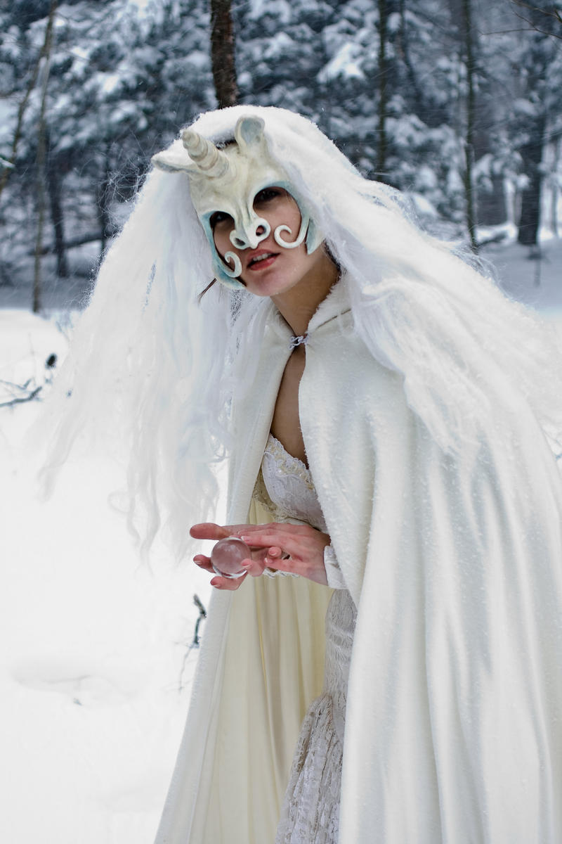 Unicorn Mask Snow Closer by eyefeather-stock
