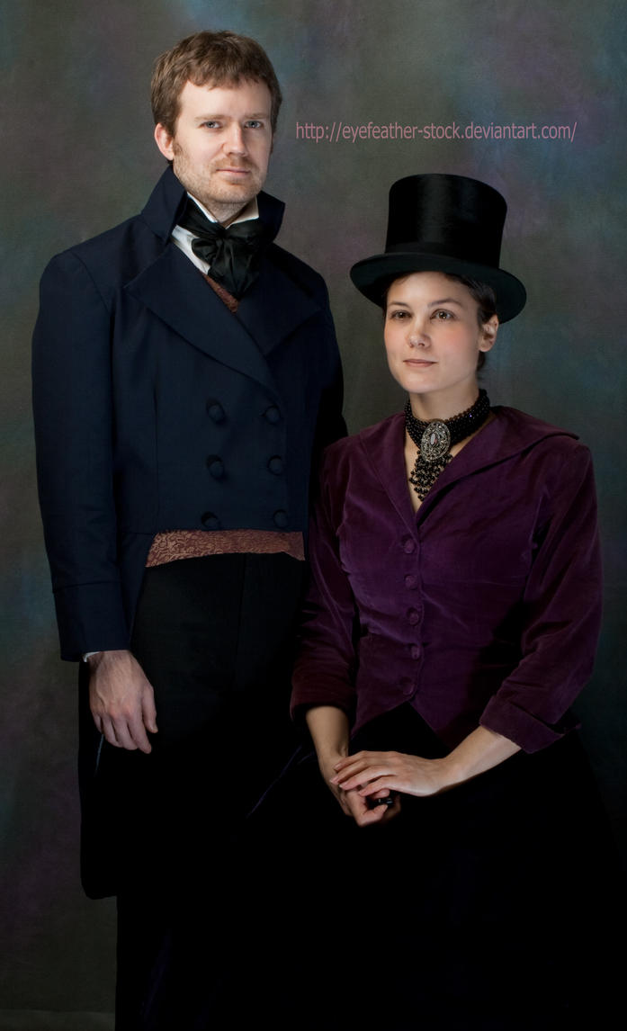 top hat couple by eyefeather-stock